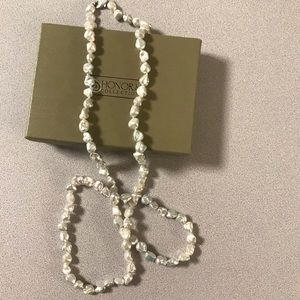 "Honora 8 mm Keshi 36"" Necklace NWT"